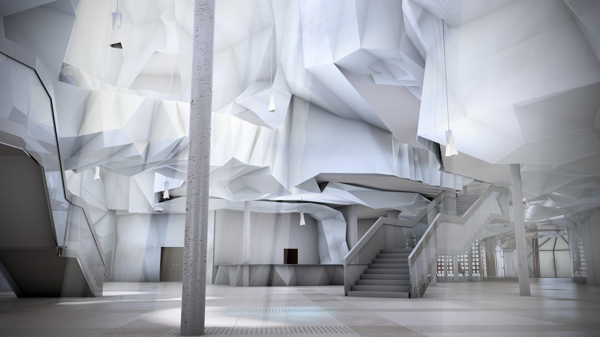 muzeum sztuki współczesnej - strefa wspólna