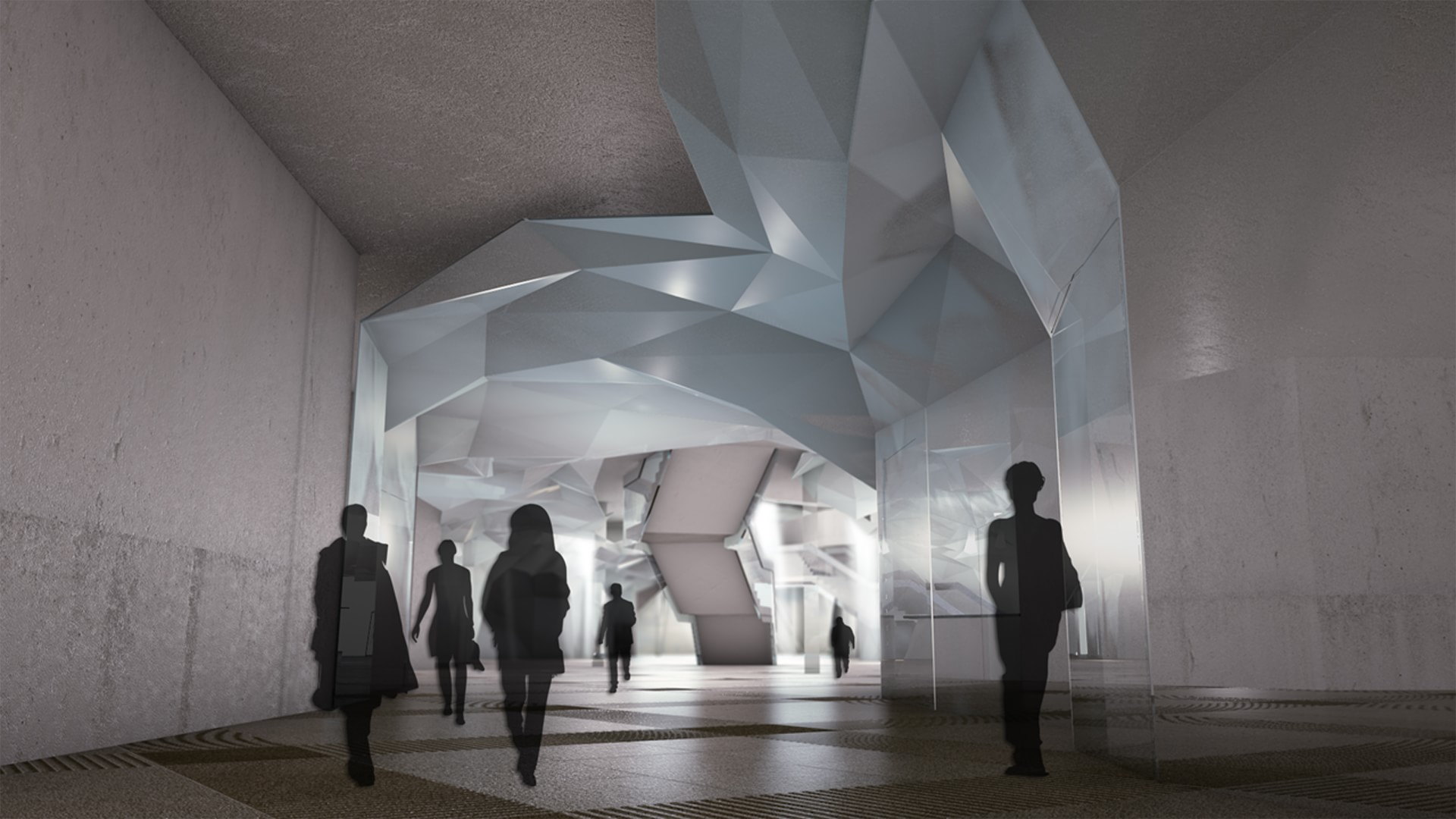 muzeum sztuki współczesnej - hol wejściowy