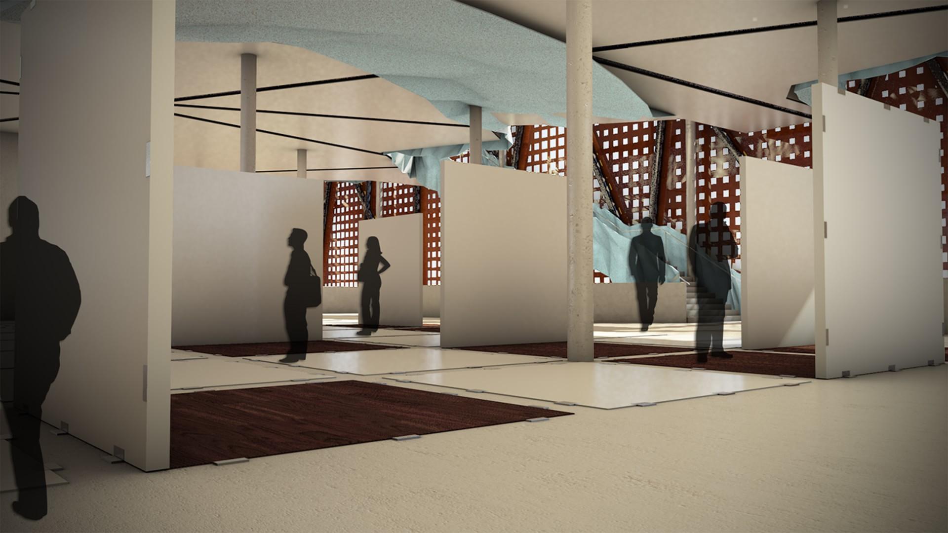 muzeum sztuki współczesnej - sala ekspozycyjna nr3