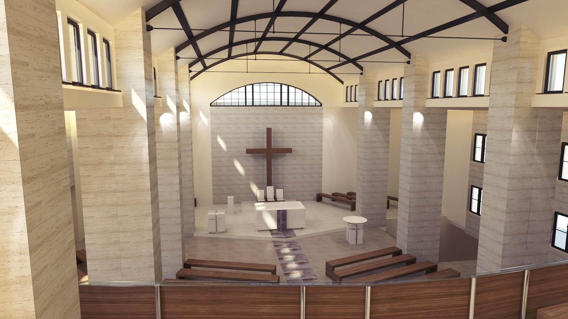 widok na ołtarz - Kościół Ruda Chebzie