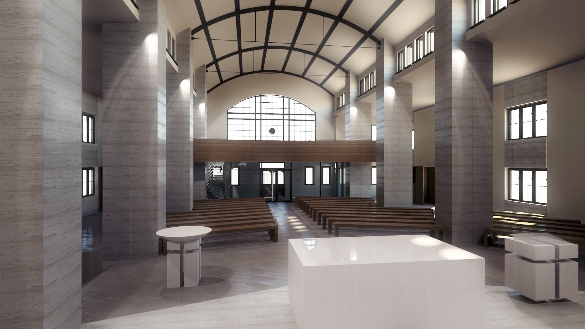 widok na chór - Kościół Ruda Chebzie